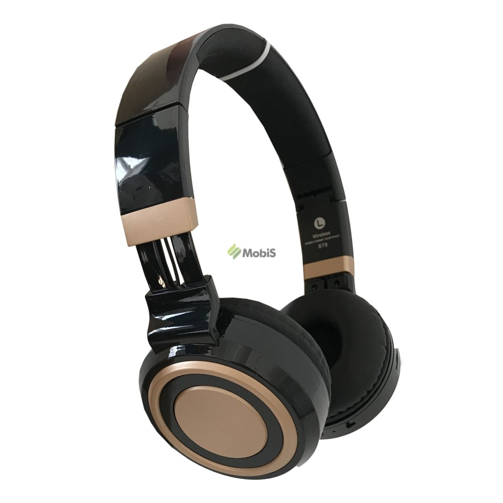Наушники Bluethooth ST9 Black-Gold (Код: 9002329)