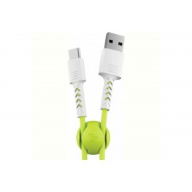 Usb кабель Pixus Soft + holder Type c Lime 1m (Код: 9003277)