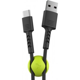 Usb кабель Pixus Soft + holder Type c Black 1m (Код: 9003278)