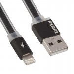USB кабель Remax (OR) Quick Charge RC-005i iPhone 6 Black Metal 1m (Код: 9002612)