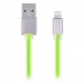 USB кабель Remax (OR) Quick Charge RC-005i iPhone 6 Green Metal 1m (Код: 9002614)