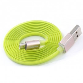 USB кабель Remax (OR) Quick Charge RC-005m MicroUSB Green Metal 1m (Код: 9002618)