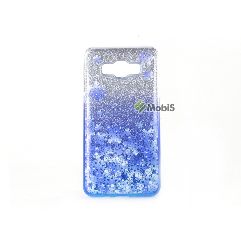 Candy Snowflake 2 in1 Samsung J700 Blue