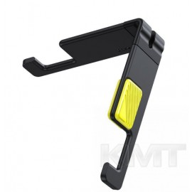 Baseus (SUPM-GY) Let''s go Portable And Mini Mobile Phone Holder Gray-Yellow